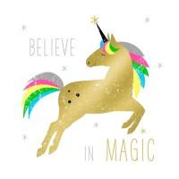 Servilletas cuadradas estampado unicornio dorado Gold Unicorn PPD 33x33cm