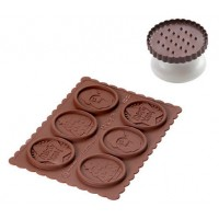Cookie cutter and chocolat Choc Christmas Silikomart
