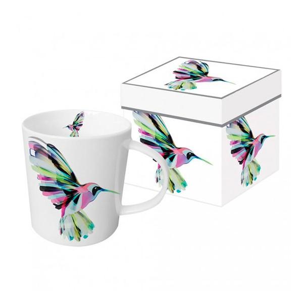 Mug decorado con colibrí colores Corfu Hummingbird PPD 35cl