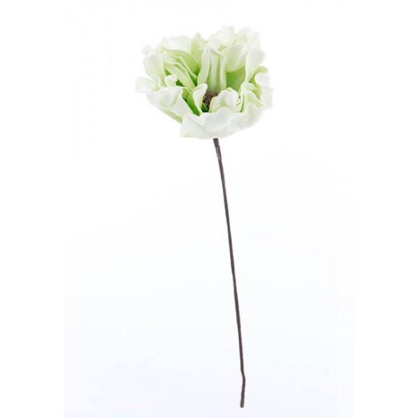 Flor foam de hojas verdes y blancas 23x70h cm