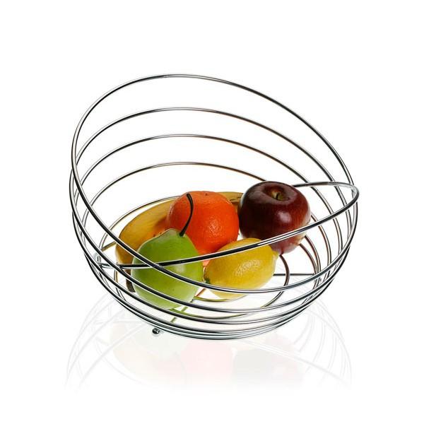 Frutero cromado redondo espiral