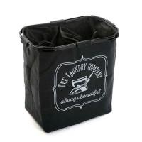 Cesto cubo doble para ropa negro The Laundry Company 50x30xh52cm