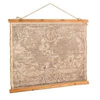 Cuadro de tela mapa mundi pergamino 84x65 cm