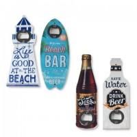 Abridor botellas con formas divertidas: Faro, Tabla Surf, Botella Soda y Botella Mensaje