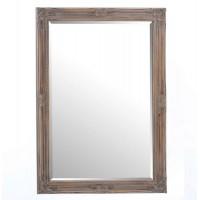 Espejo rectangular madera marco tallado clásico blanco decapado 76x106h cm
