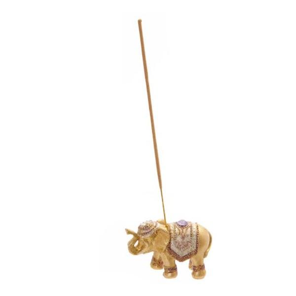 Porta incienso resina Elefante decorado 4 modelos 8x3,5x5h cm