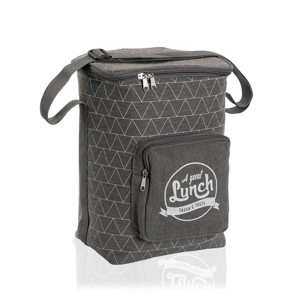 "Bolsa isotérmica lunchbag con bolsillo gris ""A great Lunch"" Triangle 15 litros"