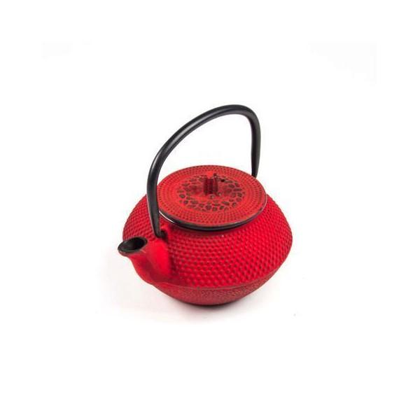 Tetera hierro fundido japonesa roja 0,4l