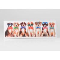 Lienzo cuadro apaisado perritos con gafas 120x40h cm