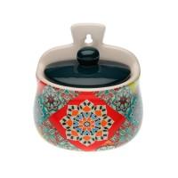 Salero porcelana azulejos colores tapa azul Topkapi 12x10x13h cm