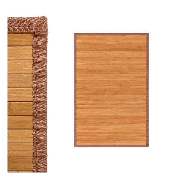 Alfombra tablillas bambú color natural 60x90cm