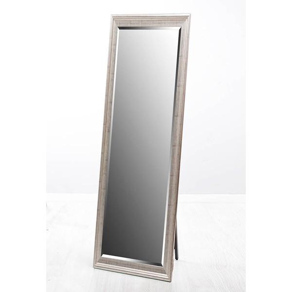 Espejo resina dorado liso con soporte 40x150h cm ext.53x163h cm