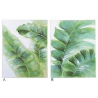 Lienzo cuadro hoja verde palmera 2 modelos 70x90h cm