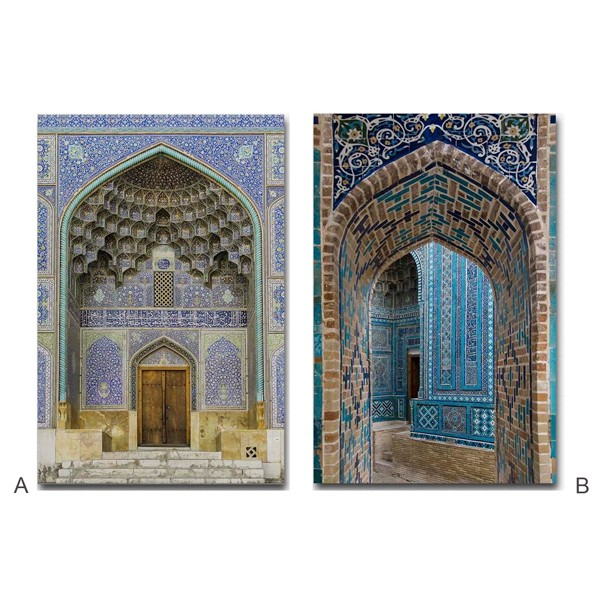 Lienzo cuadro puertas palacio arabe 2 modelos 50x70cm