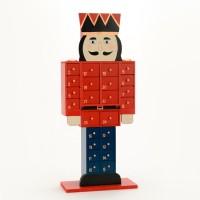 Calendario de adviento madera soldado Cascanueces 17x19x46h cm