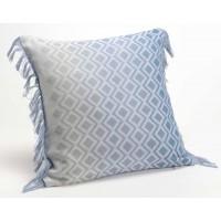 Cojín algodón con relleno azul degradado con rombos 40x40 cm