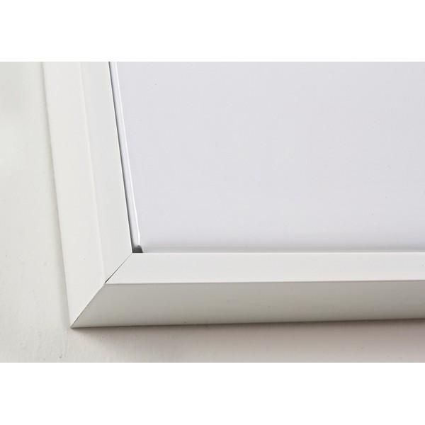 Lienzo cuadro con marco blanco de elefante en blanco y negro 67x94 cm