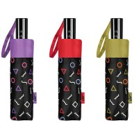 Paraguas plegable con funda automático formas geométricas de colores 3 modelos Ø97 cm