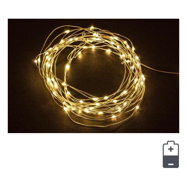 Cadena guirnalda luz navidad 40 luces micro-led color amarillo Classic IP20