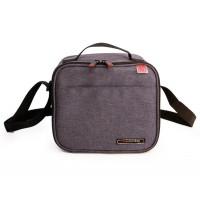 Bolsa isotérmica City lunchbag Iris gris + 2 contenedores