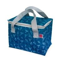 Mini bolso nevera infantil lunch azul estampado dinosaurios Dynos Iris