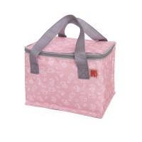 Mini bolso nevera infantil lunch rosa estampado animales Iris