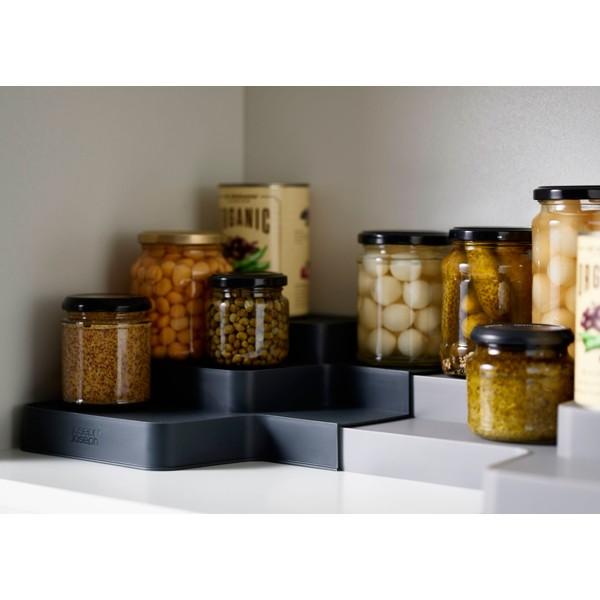 Organizador de armario despensa escalonado extensible gris CupboardStore Joseph