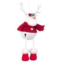 Muñeco colgante de Navidad Reno rojo 14x9x28h cm