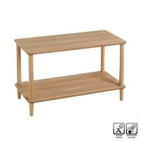 Mesa de centro baja rectangular madera pino 80x40x47,5h cm