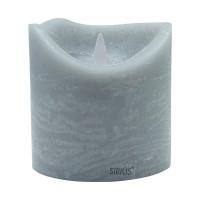 Vela led color gris ceniza Sara Spa Ash 10x10,40h cm