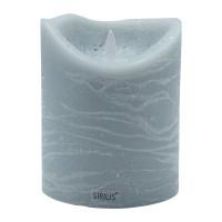 Vela led color gris ceniza Sara Exclusive Spa Ash 10x12,50h cm