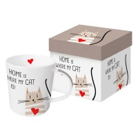 Mug decorado en caja regalo gato Home Cat PPD 35cl