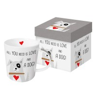 Mug decorado con perro Love and Dog PPD 35cl