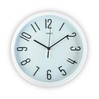 Reloj de pared marco y esfera blanco y numeros color negro 30 cm