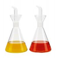 Set servicio mesa de aceitera y vinagrera Matraz cristal 410 ml