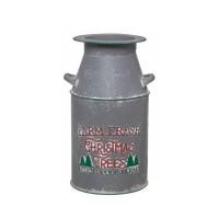 Anfora lechera metálica decoración Navidad Farm Fresh Christmas 20x20x37h cm