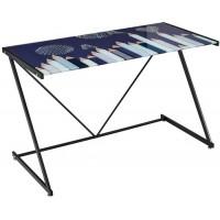 Mesa escritorio cristal templado estampado Lápices blanco y negro 120x60x75cm